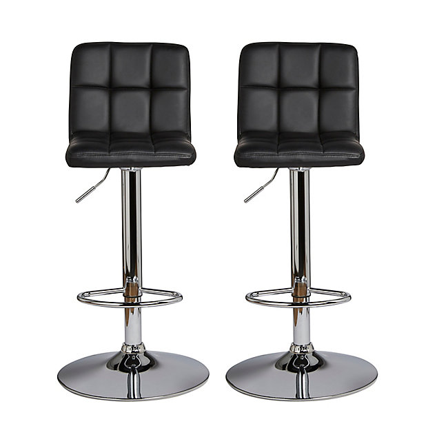 Tabouret De Bar Cooke And Lewis Lagan Noir Lot De 2 Castorama