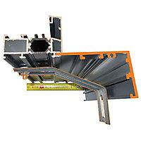Tapée d'isolation 100mm L.90 cm gris
