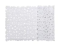 Tapis de bain antidérapant blanc 70 x 40 cm Batumi