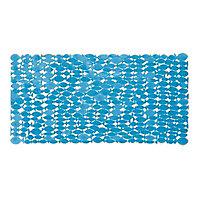 Tapis de bain antidérapant bleu 35 x 69 cm Pepo