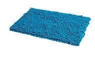 Tapis de bain antidérapant bleu 50 x 80 cm Abava