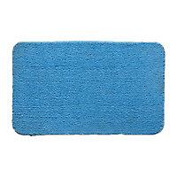 Tapis de bain antidérapant bleu 50 x 80 cm Baya