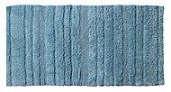 Tapis de bain antidérapant bleu 60 x 120 cm Vorma