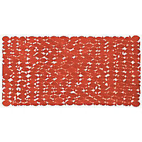 Tapis de bain antidérapant rouge 35,5 x 69 cm Pepo