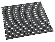 Tapis de douche antidérapant Arinos gris 54 x 54 cm