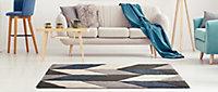 Tapis design bleu 150 x 200 cm