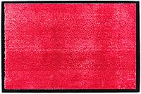 Tapis en microfibres rouge 40x60 cm avec semelle en PVC