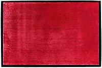 Tapis en microfibres rouge 60x90 cm avec semelle en PVC