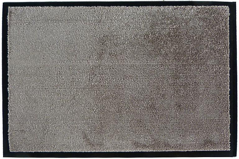tapis en microfibres taupe 40x60 cm avec semelle en pvc