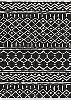 Tapis flox 100x150cm noir