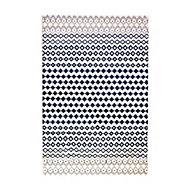 Tapis Graphic optique blanc bleu 100 x 150 cm