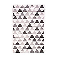 Tapis Memento triangles blanc 100 x 150 cm