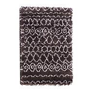 Tapis Tribal anthracite à motifs 100 x 150 cm