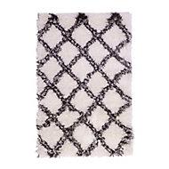 Tapis Tribal losanges blancs 60 x 90 cm