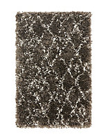 Tapis Tribal losanges gris 150 x 200 cm