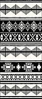Tapis vinyle aztèque noir & blanc 116 x 49,5cm