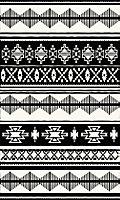Tapis vinyle aztèque noir & blanc 83 x 49,5cm