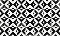Tapis vinyle carreaux croix noir et blanc 49.5 x 83 cm