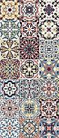 Tapis vinyle carreaux de ciment multicolore 49,5 x 116 cm