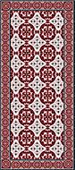 Tapis vinyle carreaux de ciment rouge vif 49,5 x 83 cm