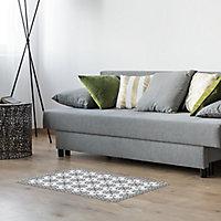 Tapis vinyle carreaux gris 49.5 x 83 cm