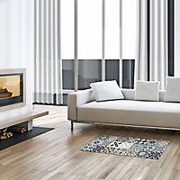Tapis vinyle carreaux multicolore 49.5 x 166 cm