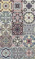 Tapis vinyle carreaux multicolore VIN17383 49.5 x 83 cm