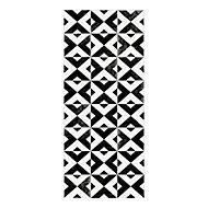 Tapis vinyle croix ciment noir et blanc 49,5 x 116 cm
