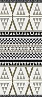 Tapis vinyle décor géométrique noir & blanc 116 x 49,5cm