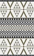 Tapis vinyle décor géométrique noir & blanc 83 x 49,5cm