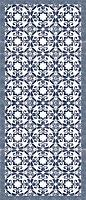 Tapis vinyle à motifs bleu 49.5 x 166 cm