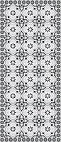 Tapis vinyle motifs gris 49.5 x 166 cm