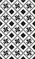 Tapis vinyle noir et blanc 49.5 x 83 cm