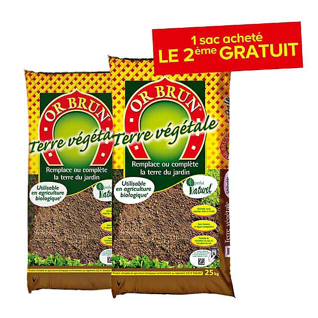 Terre Vegetale 25kg 1 Sac Gratuit Castorama