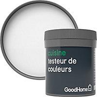Testeur peinture cuisine GoodHome blanc Alberta mat 50ml