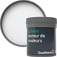 Testeur peinture cuisine GoodHome blanc North Pole mat 50ml