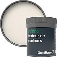 Testeur peinture cuisine GoodHome blanc Ottawa mat 50ml