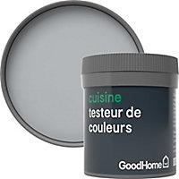 Testeur peinture cuisine GoodHome gris Brooklyn mat 50ml