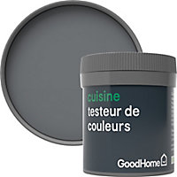 Testeur peinture cuisine GoodHome gris Hamilton mat 50ml