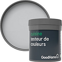 Testeur peinture cuisine GoodHome gris Melville mat 50ml