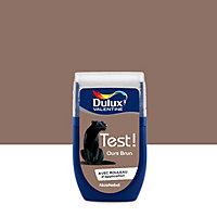 Testeur peinture murs et boiseries Dulux Valentine Crème de couleur ours brun satin 30ml