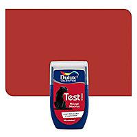 Testeur peinture murs et boiseries Dulux Valentine rouge madras satiné 30ml