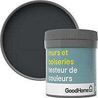 Testeur peinture murs et boiseries GoodHome noir Liberty satin 50ml