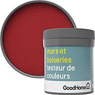 Testeur peinture murs et boiseries GoodHome rouge Chelsea satin 50ml