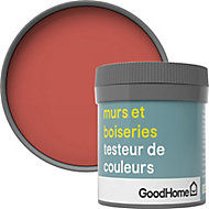 Testeur peinture murs et boiseries GoodHome rouge Westminster satin 50ml