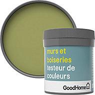 Testeur peinture murs et boiseries GoodHome vert Greenhills satin 50ml