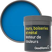 Testeur peinture résistante murs, boiseries et métal GoodHome bleu Menton mat 50ml