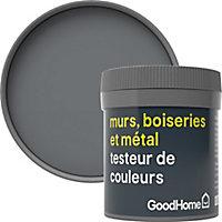 Testeur peinture résistante murs, boiseries et métal GoodHome gris Hamilton mat 50ml