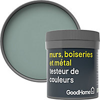 Testeur peinture résistante murs, boiseries et métal GoodHome vert Kilkenny mat 50ml