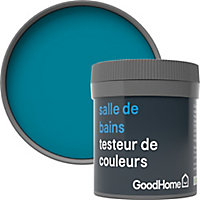 Testeur peinture salle de bains GoodHome bleu Marseille satin 50ml